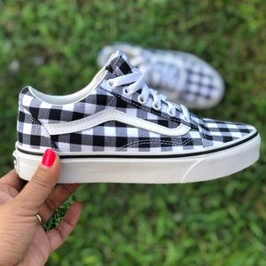 Vans Gingham black white old skool shoes sneakers